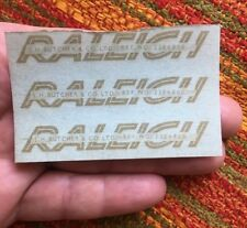NOS Rare RALEIGH J.H. Butcher & Co. Birmingham England Frame DECAL Sticker x 3