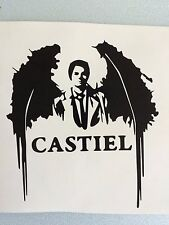 Supernatural Castiel Die Cut Vinyl Decal Angel Wings Laptop Macbook Car 5.5""