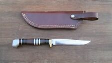 FINE Hand-forged Larger Custom Vintage Carbon Steel Hunting Knife - RAZOR SHARP