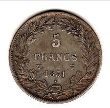 LOUIS PHILIPPE 5 FRANCS nu 1831 w tr creux TTB