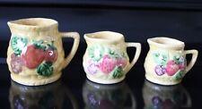 More details for graduating vintage yellow ceramic measuring jugs