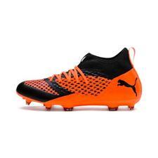 Mens Puma Future 2.3 Netfit Firm Ground Football Boots Black/Orange RRP £69.99