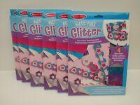 Job Lot 6 x Melissa and Doug Mess-Free Glitter Foam Bracelets Craft Kits (BNIB)