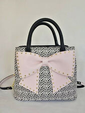 Betsey Johnson BIG BOW Bucket Handbag BJ67900P SPOT, POLKA DOTS, Studs BLUSH Bow