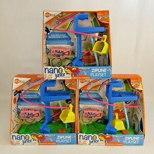 Hexbug Nano Junior Zip Line Playset Lot of 3 NEW Vibration Powered Early Develop