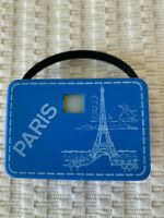 Mini 3-D Bakelite vintage souvenir viewer with Paris & Rome slides inside/1970's