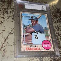 1968 Topps Baseball #86 Willie Stargell BVG BGS Beckett 8 HOF