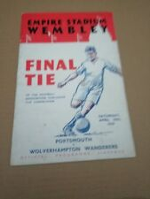 Portsmouth v Wolves FA Cup Final Football Programme 1939
