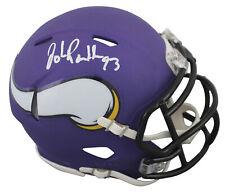 Vikings John Randle Authentic Signed Purple Speed Mini Helmet JSA Witness