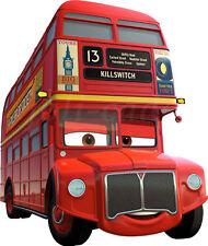 CARS 2 DISNEY STICKER REPOSITIONNABLE TRANSPARENT BUS