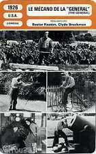 "Movie Card. Fiche Cinéma Le mécano de la ""General"" (USA) 1926 B. Keaton/Bruckman"