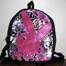 Playboy Mini Backpack Leopard Print with LARGE PINK LOGO Bunny Rabbit - Licensed