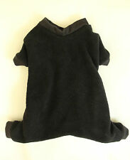 M Black Cozy Fleece Dog Pajamas clothes PJS pet apparel Clothing Medium PC Dog®