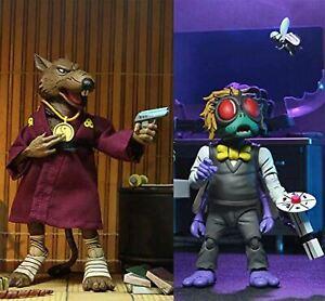 """Teenage Mutant Ninja Turtles (Cartoon) Splinter and Baxter 7"""" Figure 2PK Boxed"""