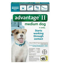Bayer Advantage II for Medium Dog 11-20 lbs - 6 Pack - FREE Shipping!