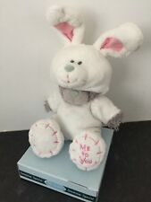 RARE ME TO YOU ANIMAL TATTY TEDDY BEAR ON BOX - DRESS UP - WHITE RABBIT