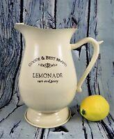 Enamelware Reproduction Farmhouse Lemonade Pitcher Beige Goode & Best Brand 2 Qt
