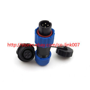 SD13 4pin Waterproof Solar Power Connector,IP68 High-voltage Bulkhead Connector
