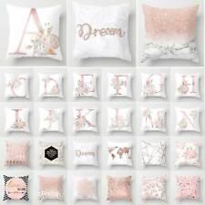 Rose Gold Cushion Cover Geometric Marble Waist Throw Pillow Case Sofa Home Decor