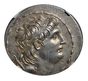 Greek Seleucid Kingdom  Antiochus VII Euergetes Tetradrachm 138-129 BC NGC AU