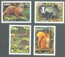 Ireland-Native Mammals 2002 mnh set-Hedgehog-Red Squirrel etc mnh