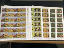 Guinea 1977 Endangered Wildlife #752-756  - 3 Sheets of Each MNH CV $354.60