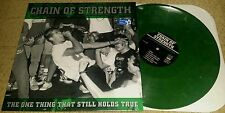 CHAIN OF STRENGTH  The One Thing That Still Holds True LP OLIVE WAX (SEALED) SXE