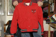 "CHICAGO BULLS VINTAGE 1980'S JACKET NBA 22"" WIDE 23"" TALL NEAR MINT DELONG BRAND"