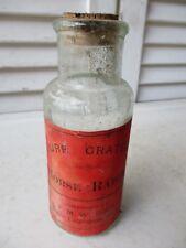 "Ca 1885 ""Pure Grated Horse Radish"" F.M. Webber, Lewiston, ME - ""B"" on Bottom"