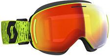 SCOTT Yellow LCG Evo Snocross Goggles ACS NoFog Anti-Fog Enhancer Red Chrome Le