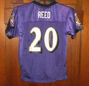 ED REED #20 Baltimore Ravens NFL Vintage Football Jersey Kids Childs sz L ( 7 )