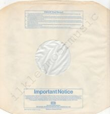 "Vintage INNER SLEEVE or SLEEVES 12"" EMI lined cut blu Notice BP No. 2 x 1"