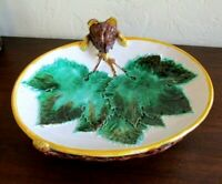 Antique George Jones Majolica 2272 Figural Fox Platter, Serving Dish, Plate