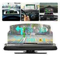 Car SUV HUD Head Up Display Navigation GPS Projector Mount Phone Holder Bra U2N0