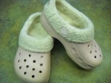 Girls LIght PINK CROCS C8 C9 removeable lining with full heel