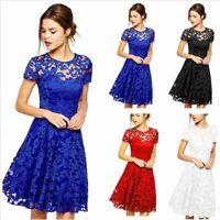 Women Summer Lace Short Dress Plus Size Party Evening Gown Prom Dresses