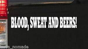 White Blood Sweat And Beer Gas Fast Loud Hot Rod Euro Monkey Van Sticker vinyl