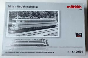 MARKLIN HO SNCF FRENCH RR CC 40100  mfx WITH SHOW CASE 150 YEARS           39404