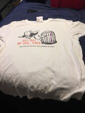 Monopoly Game Night Junk Food Men's Xl Extra Large T-shirt Get Out Of Jail