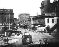 1882 8x10 Photo-Atlanta Georgia Downtown-Peachtree St. Near Five Points