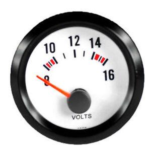 """2"""" 52mm Auto Voltmeter Universal Licht Anzeige Batteriespannung Instrument"""