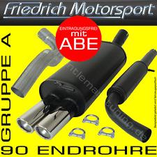 FRIEDRICH MOTORSPORT ANLAGE AUSPUFF Ford Escort Fließheck+Cabrio 1.3l 1.4l 1.6l