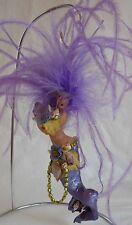Vintage Handmade Hanging Purple Haired Mermaid Figurine