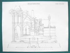 STEAM ENGINE Design Marine 65 HP 4ft Stroke - c. 1840 Fine Quality Print
