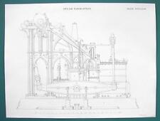 STEAM ENGINE Design Marine 65 HP 4ft Stroke - c. 1840 Fine Quality Print