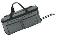 Große Reisetasche mit 2 Rollen Rollkoffer Weichgepäck Trolley Nylon Grau XL 130L