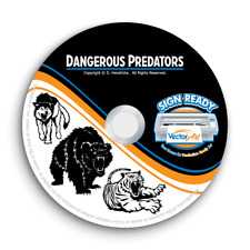 PREDATORS CLIPART-VECTOR CLIP ART IMAGES-VINYL CUTTER PLOTTER-CNC DXF GRAPHIC CD