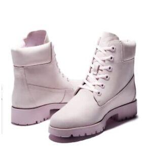Timberland Women's Classic Lite 6 inch Pink Nubuck Boots Size 8.5