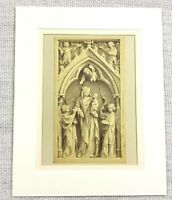 1857 Antico Stampa 14th Secolo Italiano Chiesa Altare Pannello Neonato Cristo