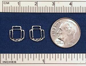RDLC Large 1:9 or Regular 1:6 Scale REVERSIBLE HALTER CORNERS - IR/Silver Plated